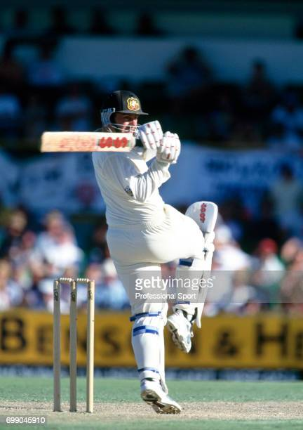 Australia captain Mark Taylor batting during the 5th Test match between Australia and England at the WACA Perth Australia 5th February 1995 Australia...