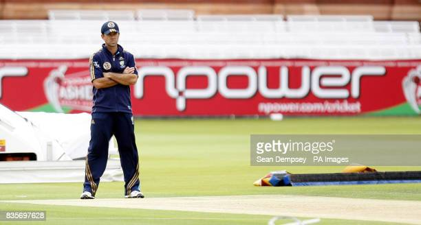 Australia captian Ricky Ponting looks on during the nets session at Lord's London