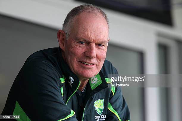 Australia coach Greg Chappell during day two of the Under 19 Test Match between England and Australia at The Emirates Durham ICG on August 05 2015 in...