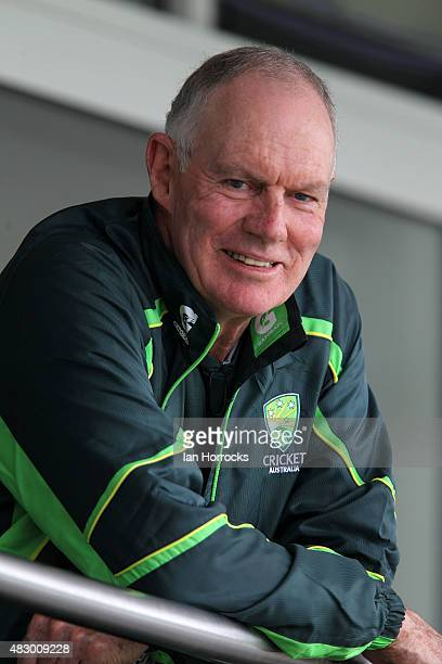 Australia coach Greg Chappell during day two of the Under19 Test Match between England and Australia at The Emirates Durham ICG on August 05 2015 in...