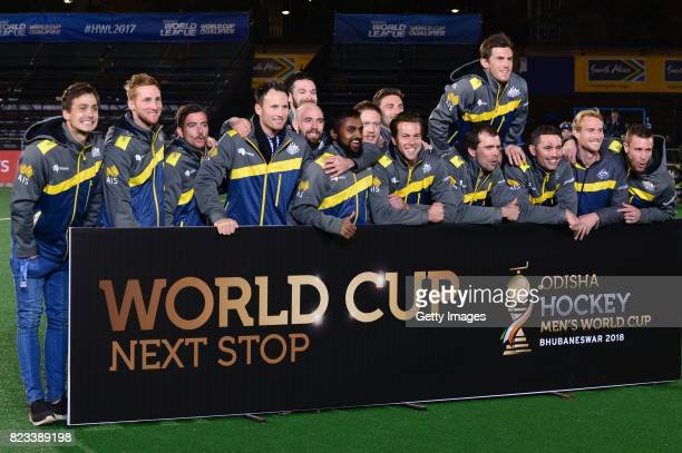 Australia during day 9 of the FIH Hockey World League Men's Semi Finals at Wits University on July 23 2017 in Johannesburg South Africa