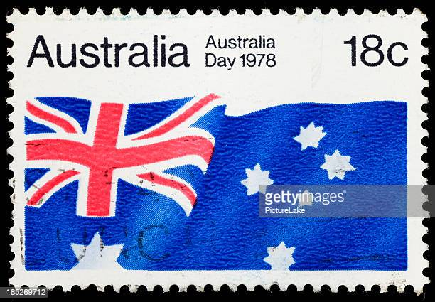 Australia flag postage stamp