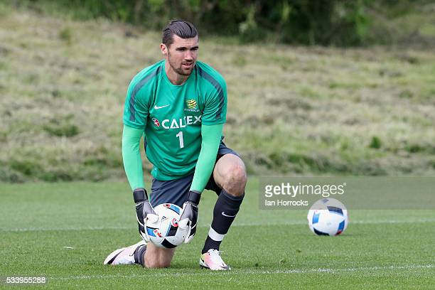 Australia goalkeeper Mathew Ryan during a Australia National football team training session at The Academy of Light on May 24 2016 in Sunderland...
