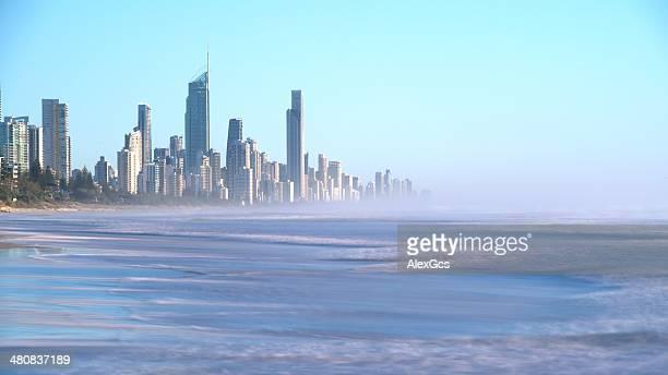 Australia, Gold Coast, Miami Park overlook Surfers Paradise