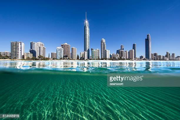 'Australia, Gold Coast, Surfers Paradise, City skyline'