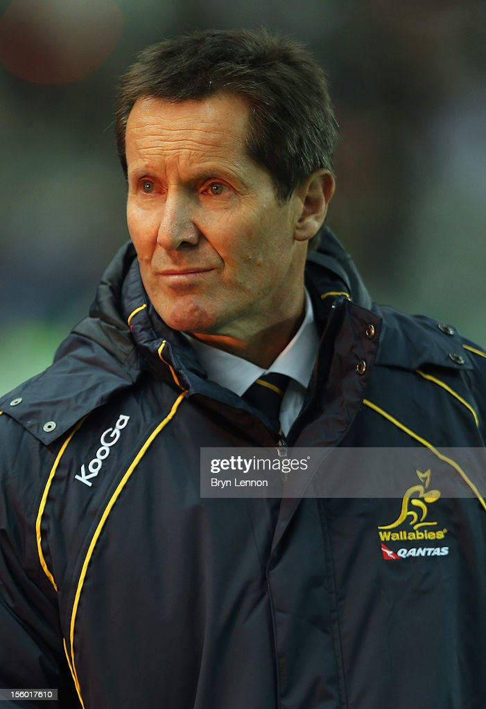 Australia Manger <a gi-track='captionPersonalityLinkClicked' href=/galleries/search?phrase=Robbie+Deans&family=editorial&specificpeople=606884 ng-click='$event.stopPropagation()'>Robbie Deans</a> looks on prior to the Autumn International match between France and Australia at Stade de France on November 10, 2012 in Paris, France.
