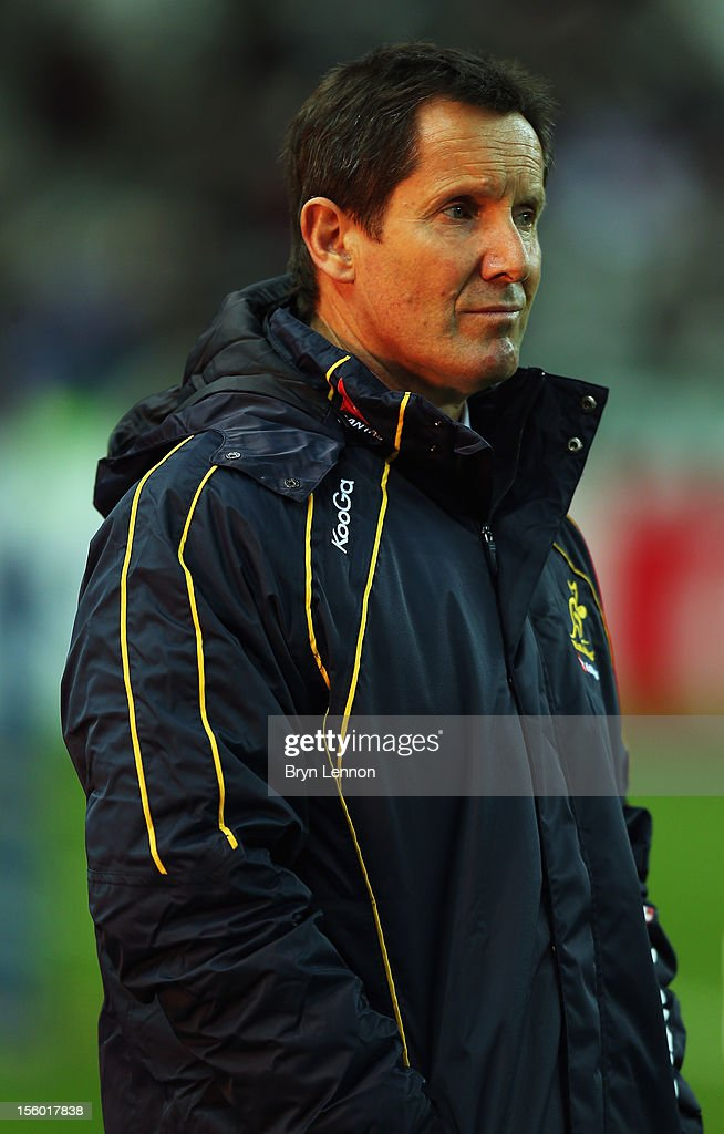 Australia Manger Robbie Deans looks on prior to the Autumn International match between France and Australia at Stade de France on November 10, 2012 in Paris, France.