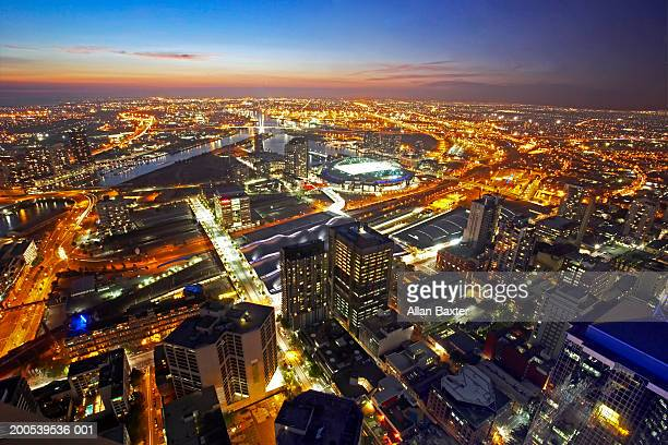 Australia, Melbourne, cityscape, view form Rialto Tower, sunset