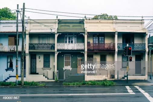 Australia, New South Wales, Sydney, row of old residential houses