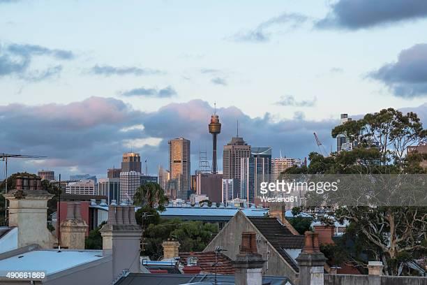 Australia, New South Wales, Sydney, skyline at dusk