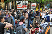 SYDNEY Australia People gather in Sydney Australia on Oct 15 to protest against income disparity Movements inspired by the Occupy Wall Street protest...