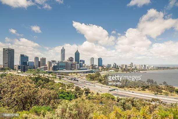 Australia Perth Cityscape and Swan River