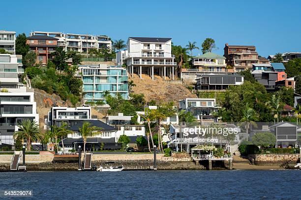 Australia Queensland Brisbane Brisbane River East Brisbane Norman Park waterfront residences homes houses apartments