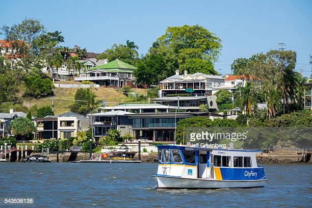 Australia Queensland Brisbane Brisbane River East Brisbane Norman Park waterfront residences homes houses apartments City Ferry City Ferry Queensland...