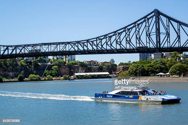 Australia Queensland Brisbane Brisbane River Story Bridge City Ferries ferry Trans Link Trans Link City Cat public transportation service