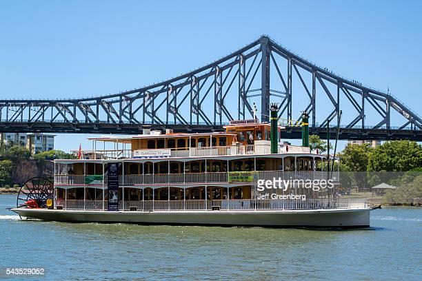 Australia Queensland Brisbane Brisbane River Story Bridge Kookaburra River Queen sternwheeler boat