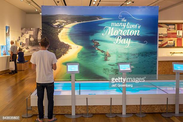 Australia Queensland Brisbane Central Business District Adelaide Street Brisbane City Hall Museum of Brisbane exhibit collection local touch screen...