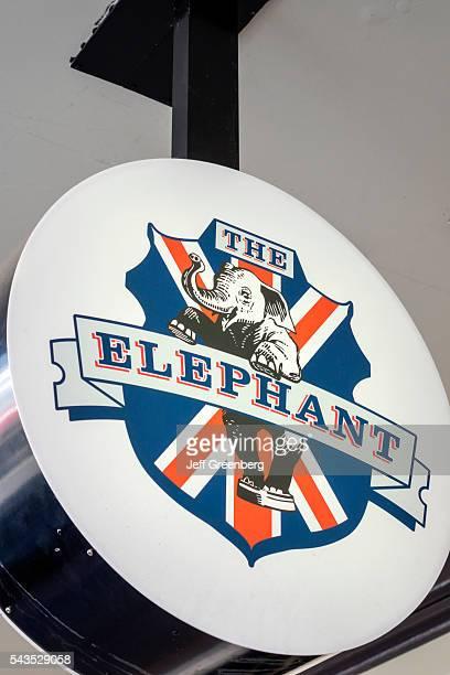 Australia Queensland Brisbane Fortitude Valley restaurant The Elephant bar pub sign