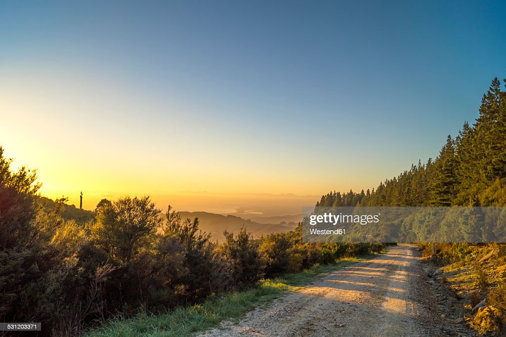 Australia, Queensland, mountain path at sunrise : Stock Photo