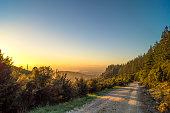 Australia, Queensland, mountain path at sunrise