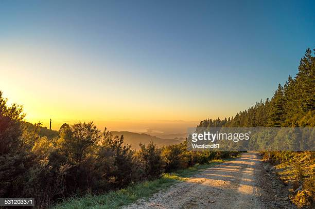 Australia, Queensland, mountain path at sunrise