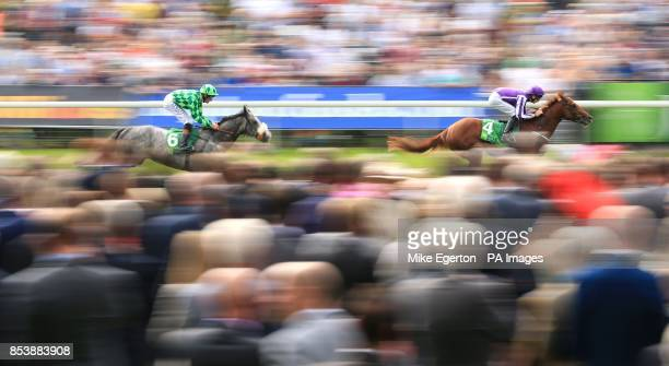 Australia ridden by Joseph O'Brien beats The Grey Gatsby ridden by Richard Hughes to win The Juddmonte International Stakes during Day One of the...