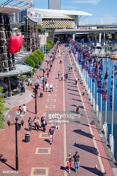 Australia Sydney Central Business District CBD Darling Harbor Cockle Bay Promenade Wharf IMAX Theatre