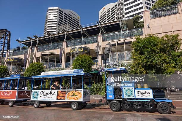 Australia Sydney Central Business District CBD Darling Harbor Cockle Bay Promenade Wharf minitrain shuttle