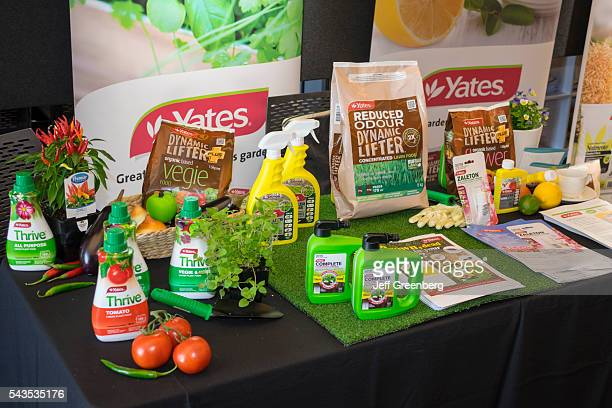 Australia Sydney Central Business District CBD Darling Harbor Cockle Bay Wharf nursery garden gardening show event exhibitor sign booth Yates plant...