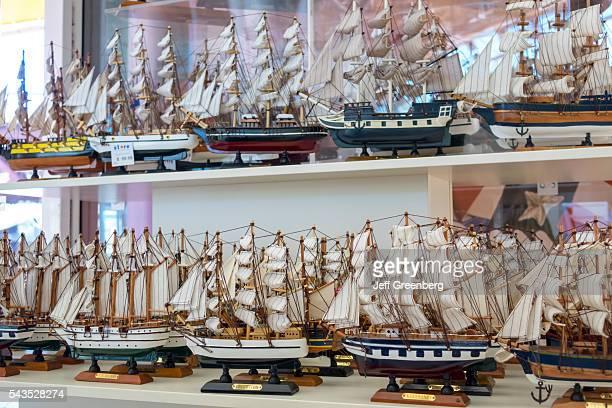 Australia Sydney Central Business District CBD Darling Harbor Australian National Maritime Museum gift shop store shopping model sailing ships