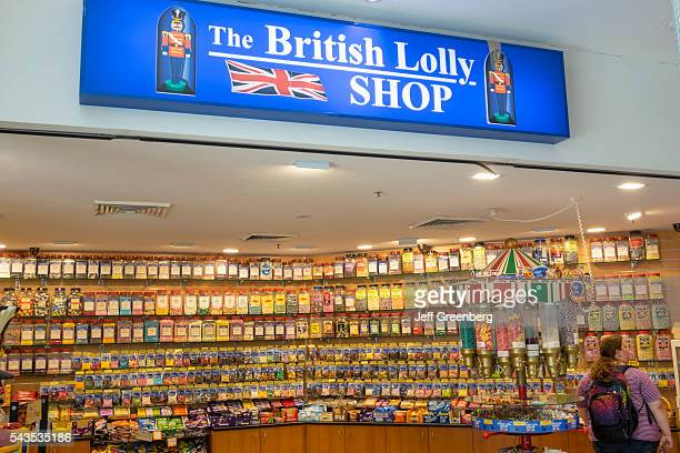Australia Sydney Central Business District CBD Darling Harbor Harbourside Shopping Center shopping candy store British Lolly Shop overweight fat...