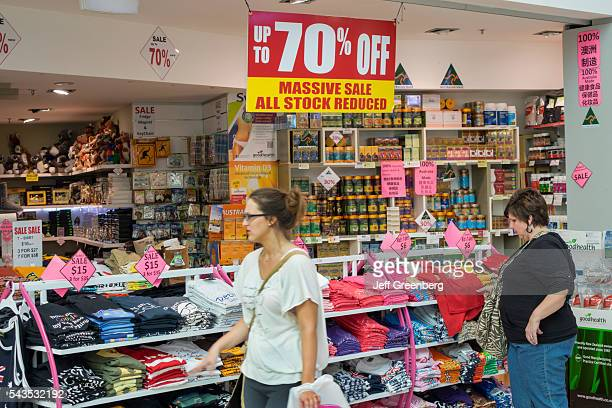 Australia Sydney Central Business District CBD Darling Harbor Harbourside Shopping Center shopping up to 70% sale discount clothing woman
