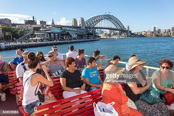 Australia Sydney Ferries Sydney Harbor Bridge harbor Parramatta River Darling Harbor ferry Circular Quay Terminal public transportation passengers...