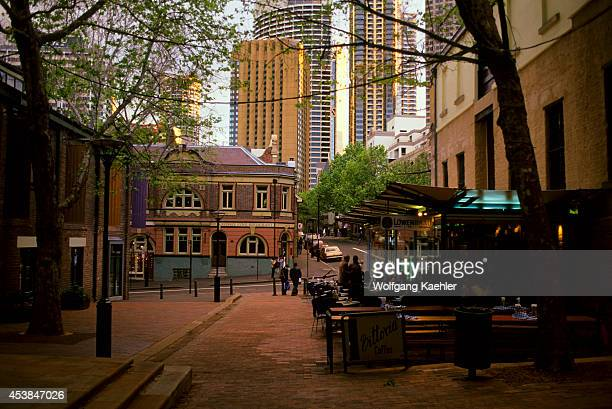 Australia Sydney The Rocks Street Scene Sidewalk Cafe