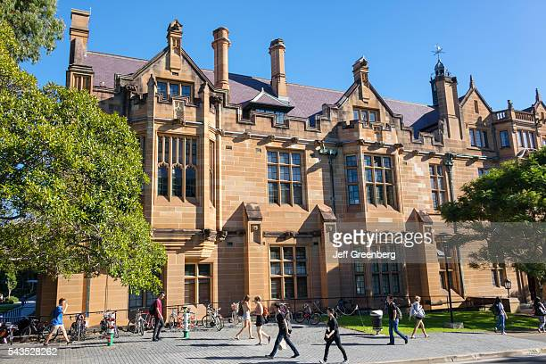 Australia Sydney University of Sydney education campus Anderson Stuart Building sandstone historic student