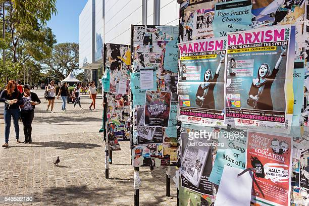 Australia Sydney University of Sydney education campus student posters bulletin board Marxism