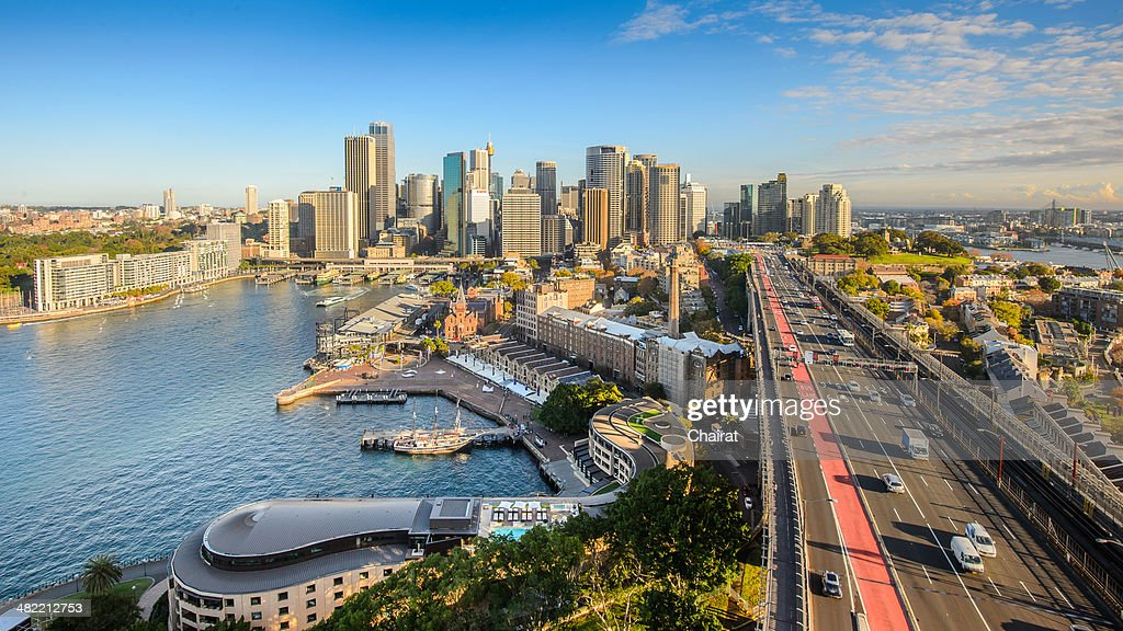 Australia, Sydney, View of downtown : Stock Photo