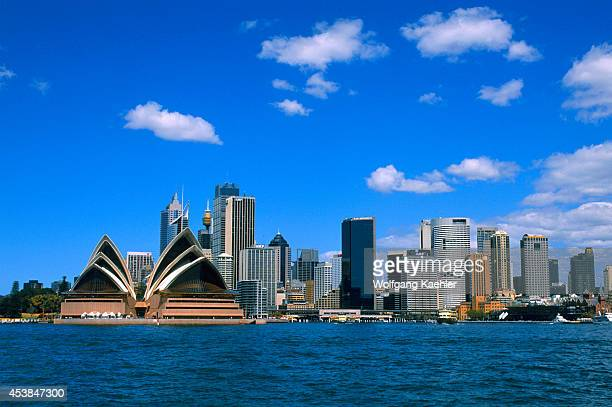 Australia Sydney View Of Opera House And City Skyline
