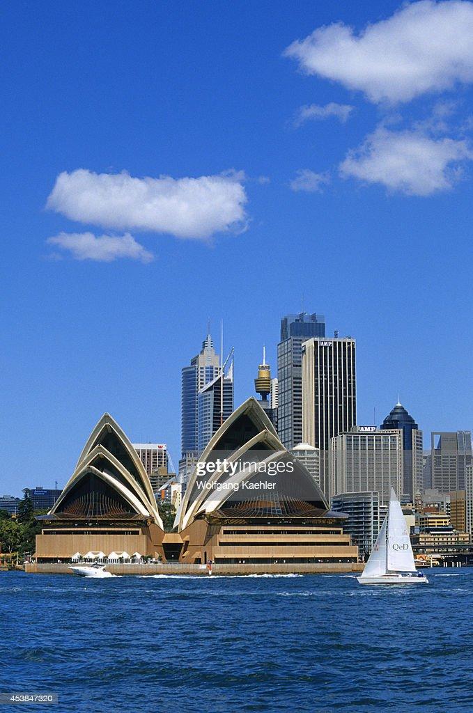 Australia Sydney View Of Opera House And City Skyline