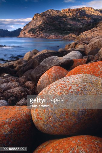Australia tasmania freycinet national park rocks along for Landscaping rocks tasmania