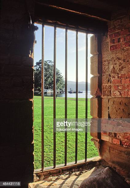 Australia Tasmania Port Arthur Convict Colony Doorway With Bars