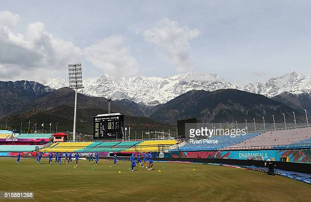 Australia train during an Australian nets session ahead of the ICC 2016 Twenty20 World Cup on March 16 2016 in Dharamsala India
