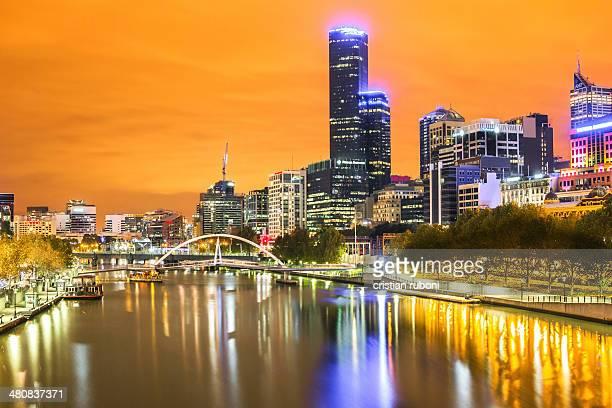 Australia, Victoria, Melbourne at night