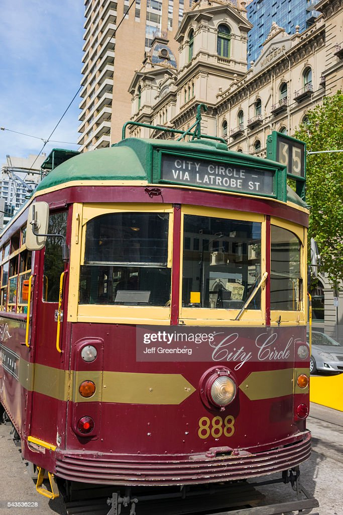 Australia Victoria Melbourne Central Business District CBD Spring Bourke Street Station tram trolley City Circle Line