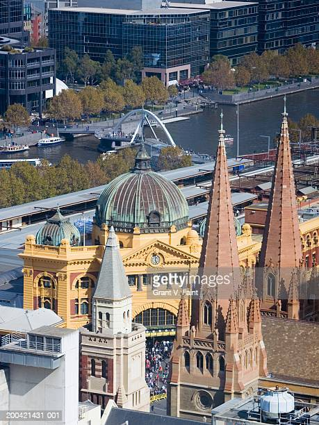 Australia, Victoria, Melbourne, Flinders Station, elevated view