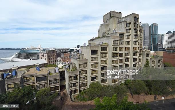 AustraliahousingpropertySydneyFEATURE by Madeleine Coorey This photo taken on April 3 2014 shows a public housing block called Sirius which boast...
