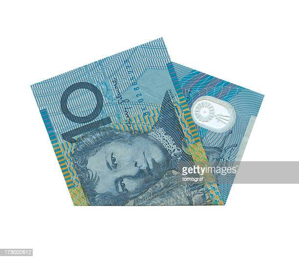 Australian 10$ Notes Isolated (clipping path)
