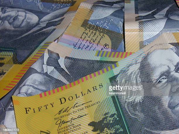 Australian 50 dollar close-up