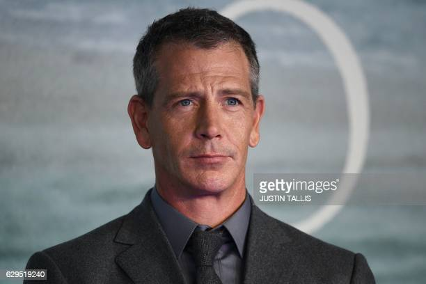 Australian actor Ben Mendelsohn poses upon arrival at the UK launch event of Lucasfilm's 'Rogue One A Star Wars Story' at the Tate Modern in central...