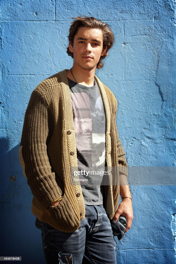 Australian actor Brenton Thwaites poses during a photo shoot in Darlinghurst on September 1 2014 in Sydney Australia Thwaites is promoting his new...